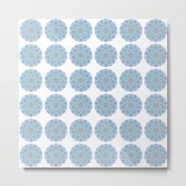 Collage of blue madalas Metal Print