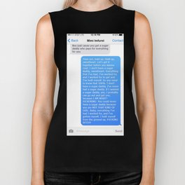 SHANGELA SUGAR DADDY TEXT Biker Tank