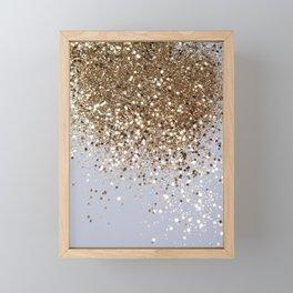 Sparkling Champagne Gold Glitter Glam #1 #shiny #decor #art #society6 Framed Mini Art Print