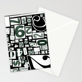 Numbers by Friztin Stationery Cards