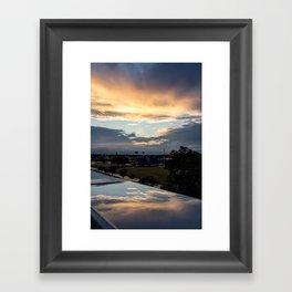 Rainy Day Reflections Framed Art Print