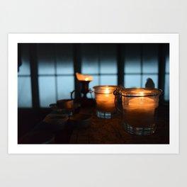 Candlelit Warmth - Winchester Mountain, Washington State Art Print