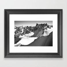 French Alps, Chamonix, France. Framed Art Print