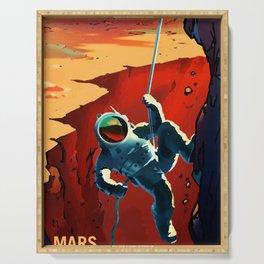 NASA Mars Recruitment Poster - Explorers Wanted Serving Tray