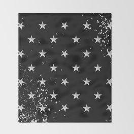 Grunge Spangled Banner Throw Blanket