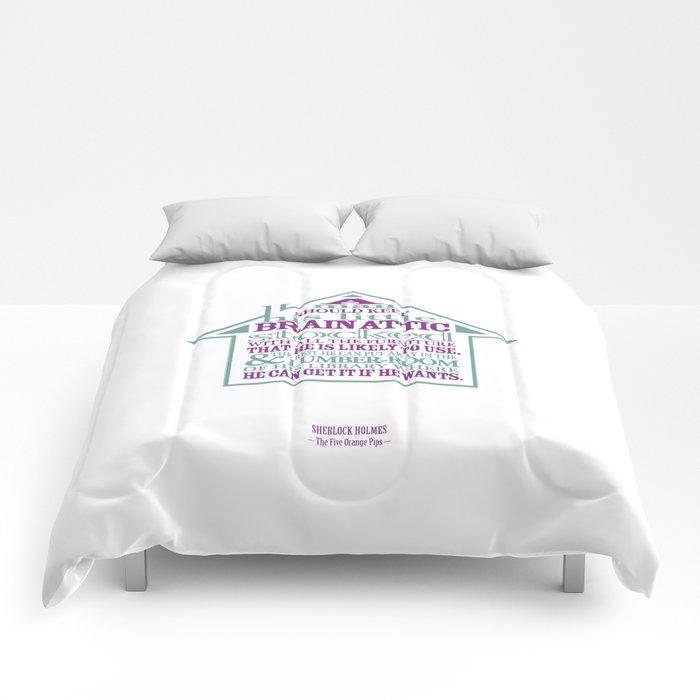 Sherlock Holmes novel quote – brain attic Comforters