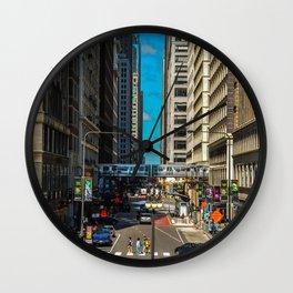 Cartoony Downtown Chicago Wall Clock