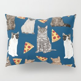 Cats pizza slices food cat lover pet gifts must have cat breeds Pillow Sham