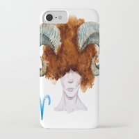 aries iPhone & iPod Cases featuring Aries by Aloke Design