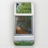 garfield iPhone & iPod Skins featuring Garfield in the House by Cody_Van