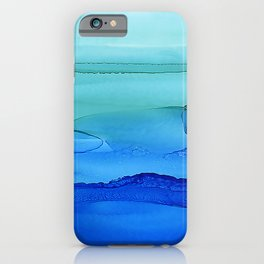 Alcohol Ink Seascape iPhone Case
