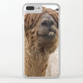 Fluffy Grin Clear iPhone Case