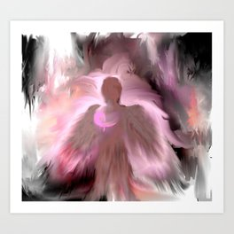 Breast Cancer Awareness Angel Art Print