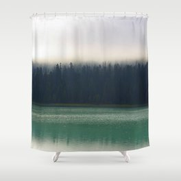 Faded Forest And Lake Shower Curtain