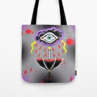 evil eye Tote Bags featuring Evil Eye.  by Alyssa Hall