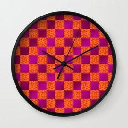 Funky Check (Hotsy Totsy) Wall Clock
