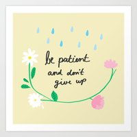 motivational Art Prints featuring Motivational thoughts by Saskdraws