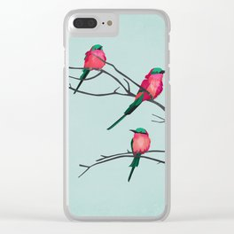 Cardinal Birds Clear iPhone Case