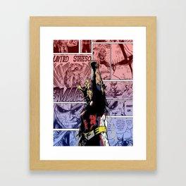 All Might Symbol of Peace Framed Art Print