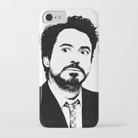 robert downey jr iPhone & iPod Cases featuring Robert Downey Jr. by ItalianBrush