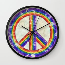 Rainbow Pride Peace Wall Clock
