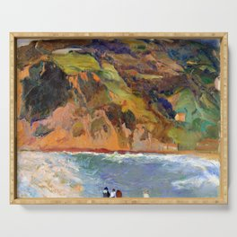 Joaquin Sorolla Shore of San Sebastian Serving Tray