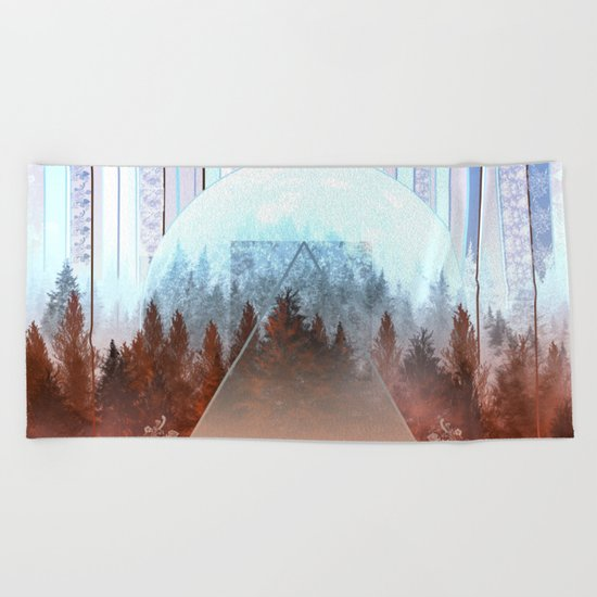 abstract floral forest 2 Beach Towel