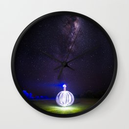 Milk way lighthouse Wall Clock