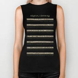 Bayeux Tapestry on cream - Full scenes and description Biker Tank