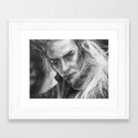 thranduil Framed Art Prints featuring Thranduil by Lisa Buchfink