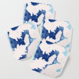 Blue Warmth (Leaf Monotype Print Series) Coaster