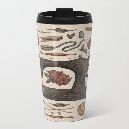 Sewing Collection Metal Travel Mug