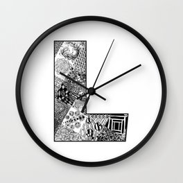 Cutout Letter L Wall Clock