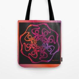 Hope Flower Mandala - Red Orange Violet Dynamic Tote Bag