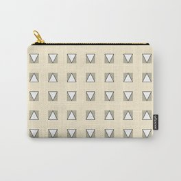 Audrey and Frank - Modern Envelopes Grid (Neutral) Carry-All Pouch