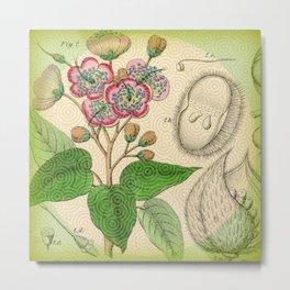 Botanical with Pattern Metal Print