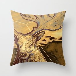 Stag Dimension of Dust Throw Pillow
