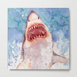 Shark Jaws Metal Print