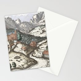 Village mountain scene Innsbruck Stationery Cards