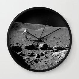 Apollo 17 - Astronaut Running Wall Clock