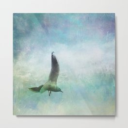 Gull In Flight Metal Print