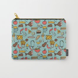 Food Frenzy blue #homedecor Carry-All Pouch