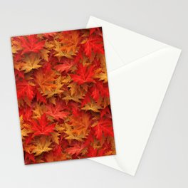 Autumn Case Fall Leaves Stationery Cards