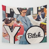 party Wall Tapestries featuring party by WeLoveHumans