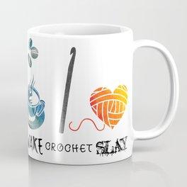 Wake Crochet Slay - Fiber Arts Quote Coffee Mug