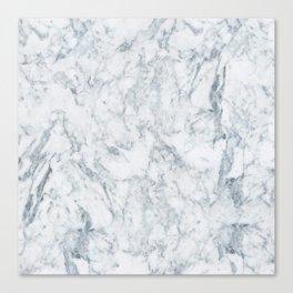 Vintage elegant navy blue white stylish marble Canvas Print