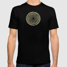 Slow Spin MEDIUM Mens Fitted Tee Black