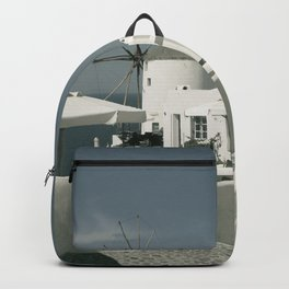 Santorini, Greece 8 Backpack