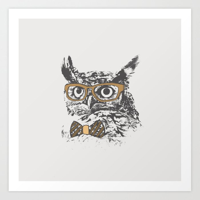 Hipsters are a Hoot Art Print