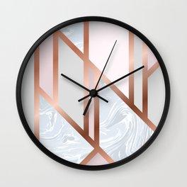 White Pastel Art Deco Wall Clock